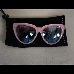 Quay Australia Pink Cat Eye Sunglasses